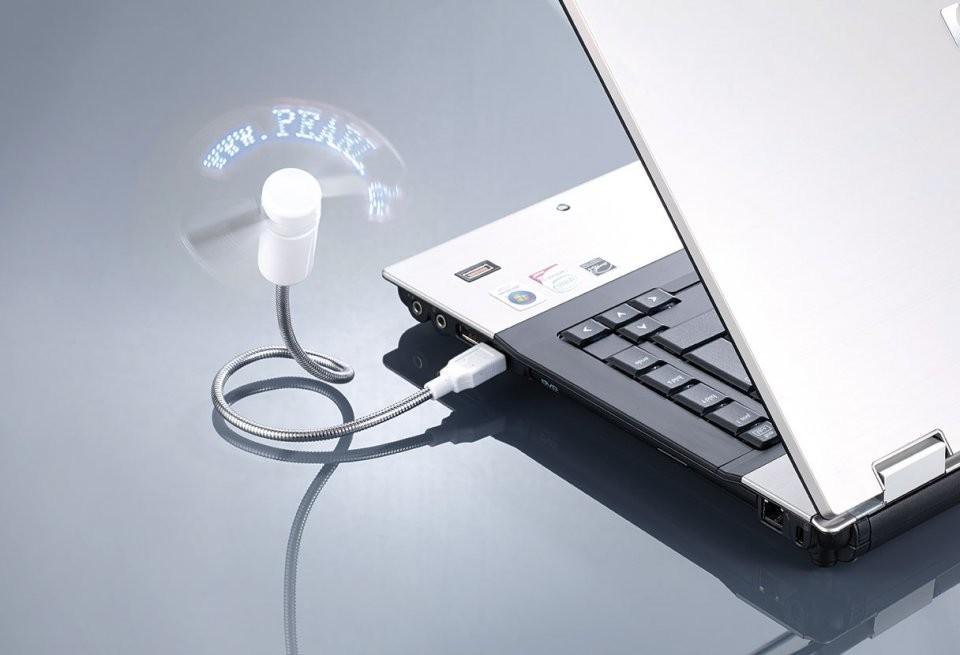 article PX ventilateur usb programmable avec message defilant