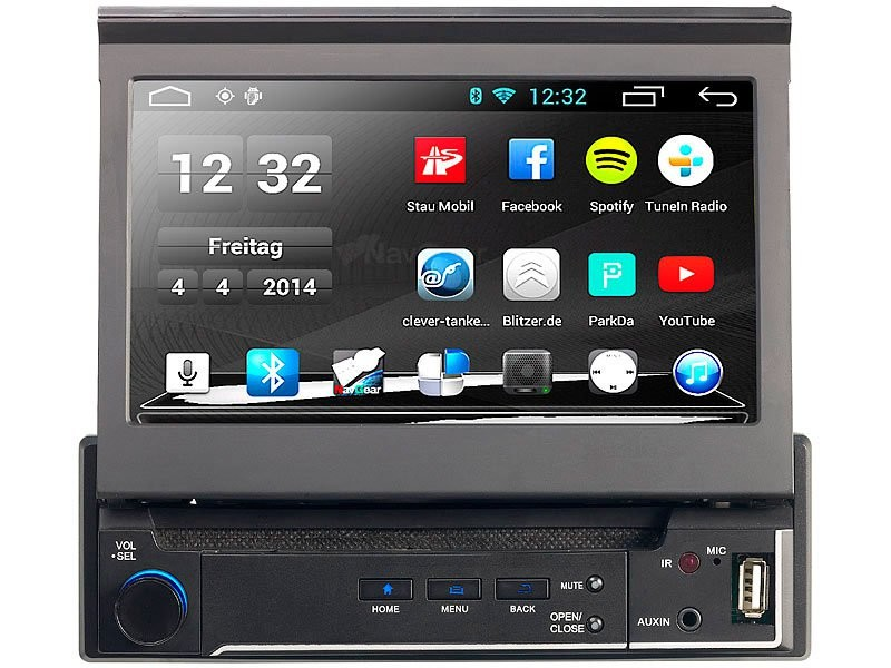 autoradio android 1din avec gps europe et bluetooth dsr. Black Bedroom Furniture Sets. Home Design Ideas