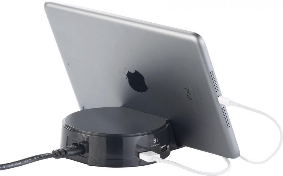 Support Tablette Et Ipad Avec Chargeur Usb 4 Ports Int Gr