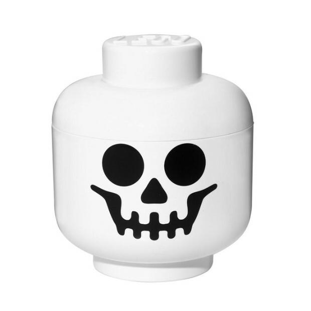 Tête de rangement LEGO squelette S   Pearl.fr