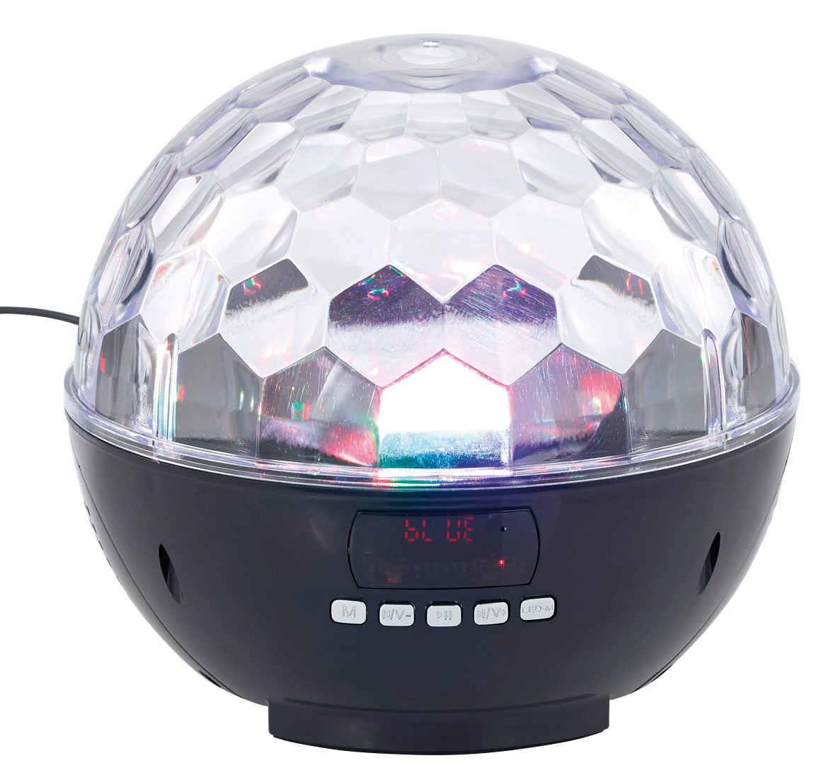 enceinte bluetooth avec boule stroboscope rgb pour soir e disco. Black Bedroom Furniture Sets. Home Design Ideas