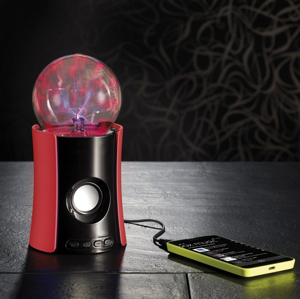 enceinte nomade bluetooth avec lecteur mp3 et boule plasma. Black Bedroom Furniture Sets. Home Design Ideas
