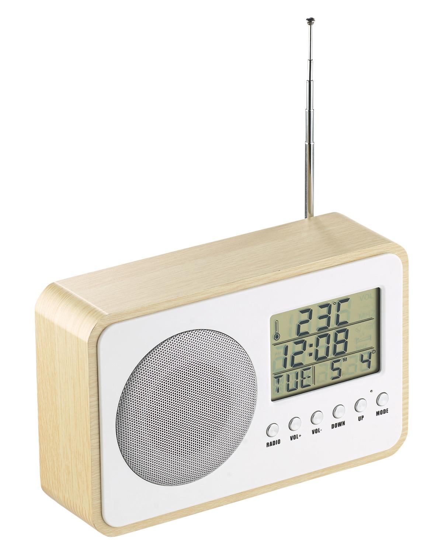 radio r veil fm design bois avec scanner digital auvisio. Black Bedroom Furniture Sets. Home Design Ideas