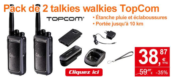 Profitez de cette offre exclusive Internet sur le pack de talkie walkie valable jusqu'au 21 août 2017.